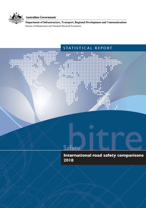 International Road Safety Comparisons—Annual 2018 cover