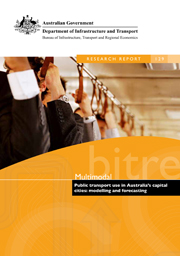 Public transport use in Australia's capital cities, Modelling and forecasting